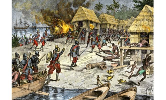 Risultati immagini per colombo indigeni